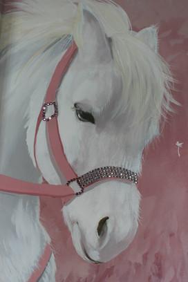 Pet pony portrait with Swarovski crystals