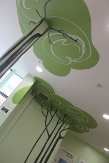 trees onto ceiling