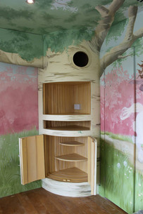 Bespoke tree themed media storage unit
