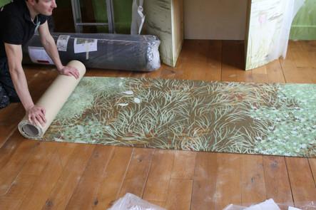 First look at printed carpet