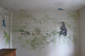 Safari Sketchbook Mural