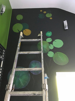 Waterlily Bathroom Mural