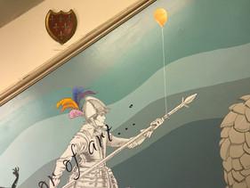 Balloon from Polly Morgan's art piece