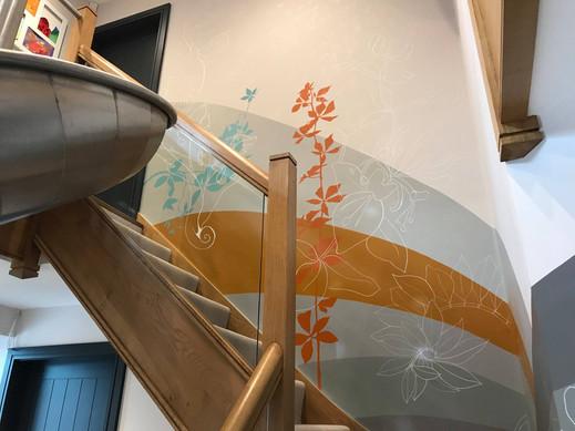 inside slide mural