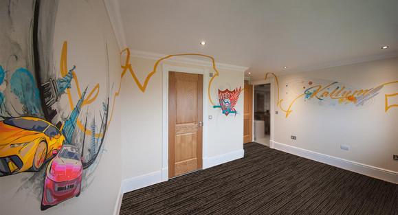 Streetart Style Bedroom Mural