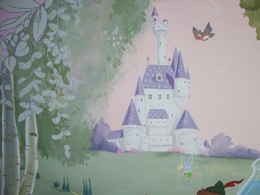 Disney Picnic Playroom Mural