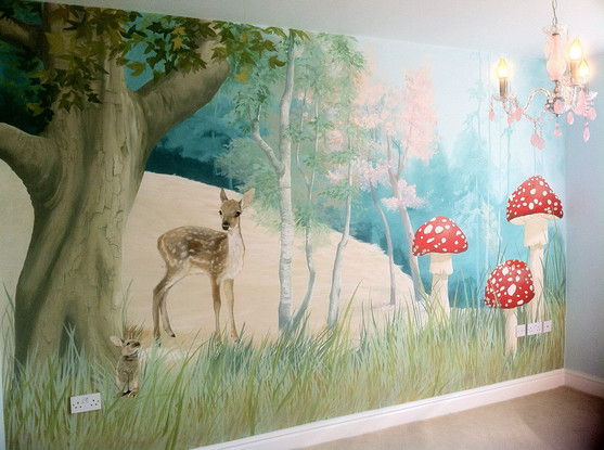Forest Playroom Mural
