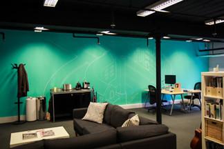 Boomerang Office Mural