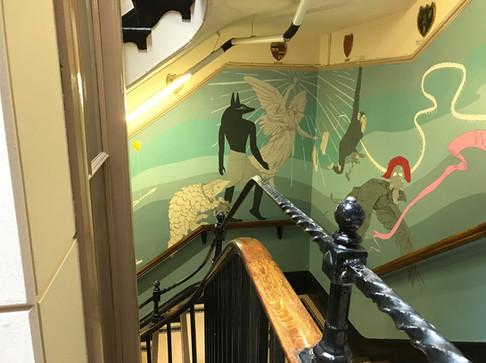 Museum Stairwell Mural