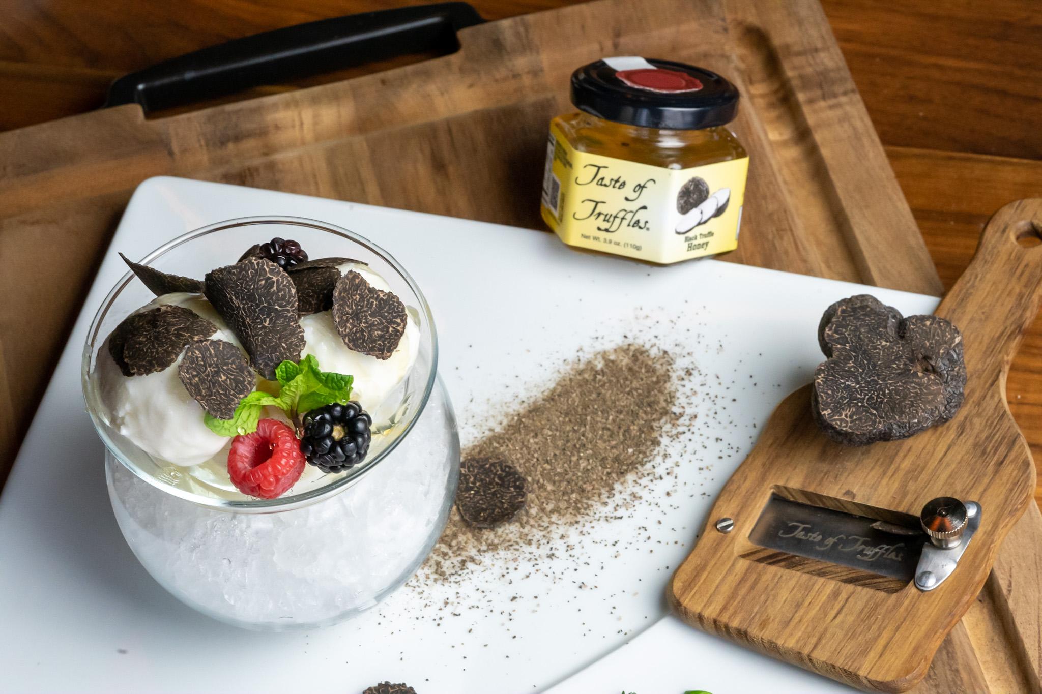 winter truffle gelato and honey