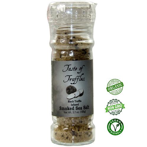 Black Truffle infused Smoked Sea Salt - 3.5 oz