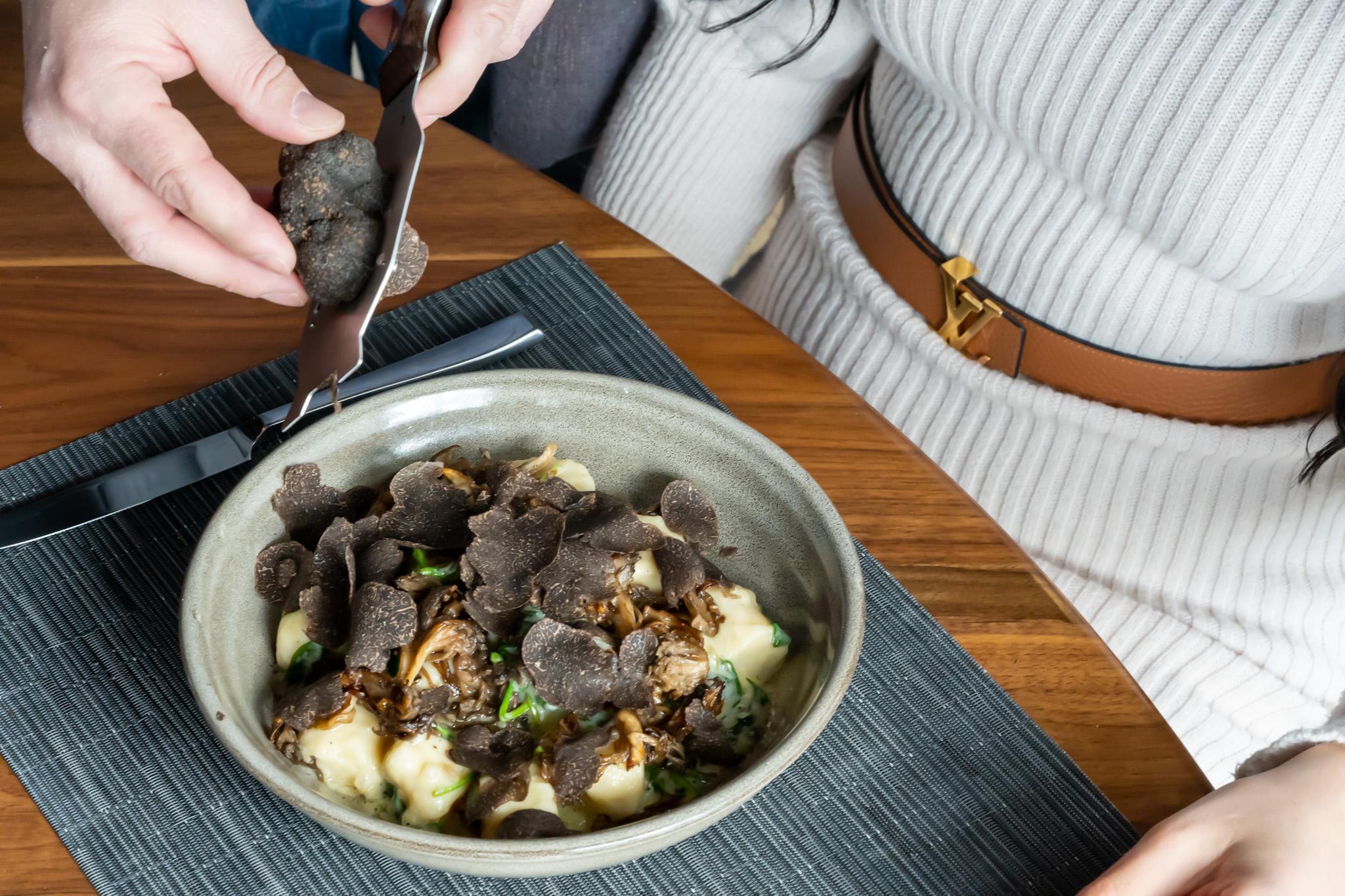 Fresh Black Winter Truffle Gnocchi