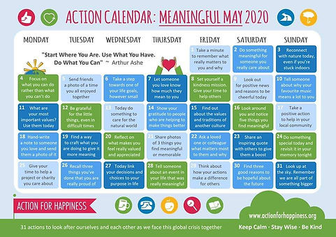 Action Calendar for May