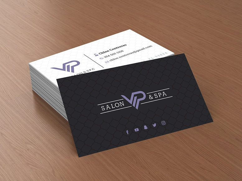 VIP Salon & Spa Business Cards