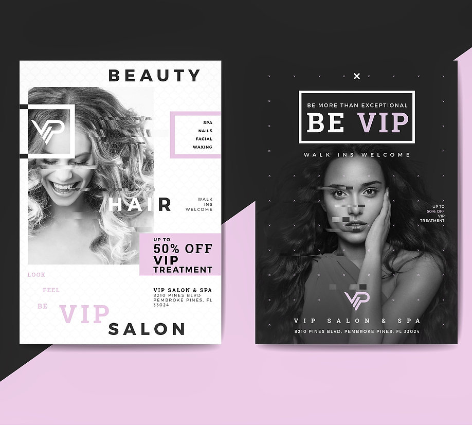 VIP Salon & Spa Flyers