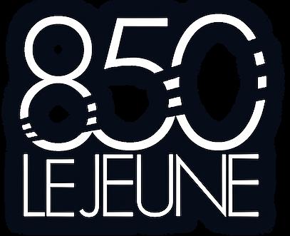 850 LeJeune Logo 1A white.png