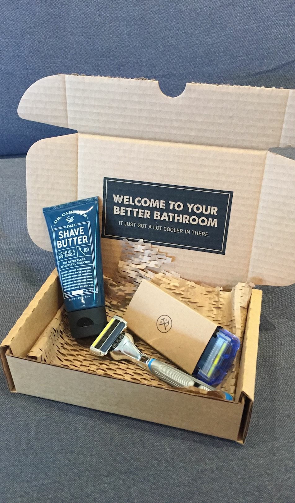 Dollar Shave Club product & packaging
