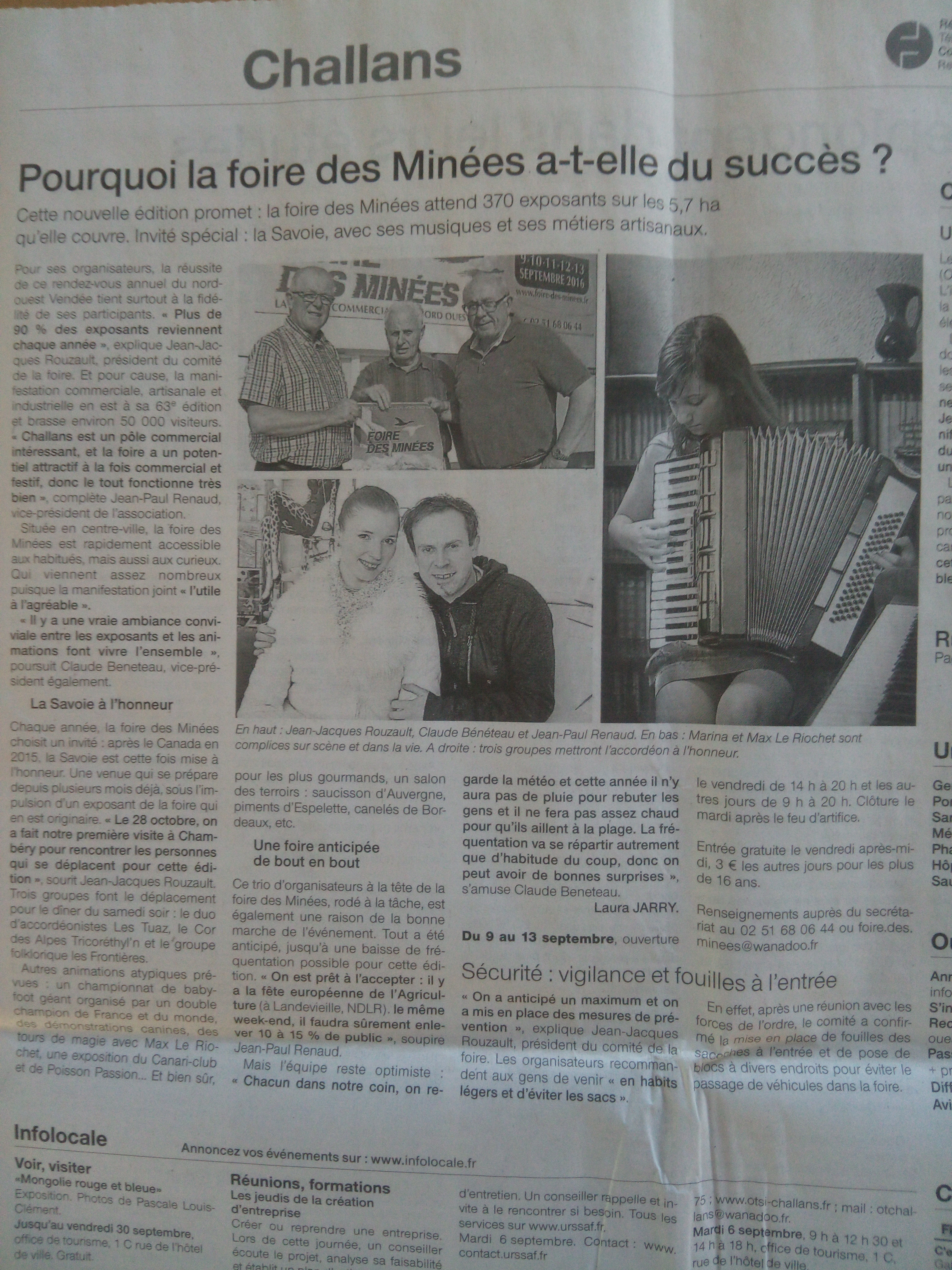 Ouest France magie foire des minées