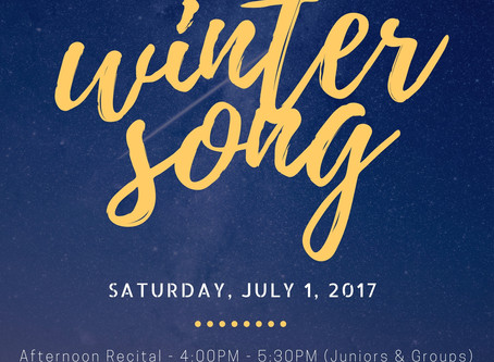 Winter Song: Our Mid-Year Recital is ON!