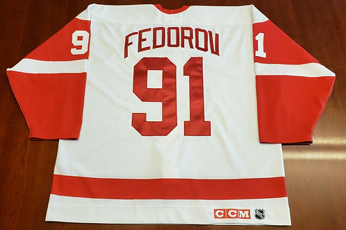 Sergei Fedorov Detroit Red Wings CCM Authentic Jersey