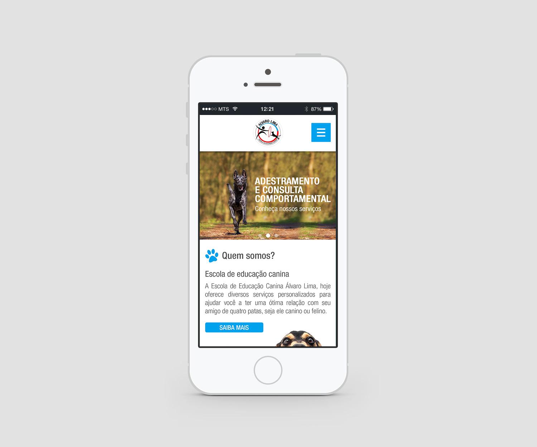 Site Alvaro Lima - Mobile