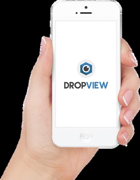 Smartphone com Aplicativo DropView