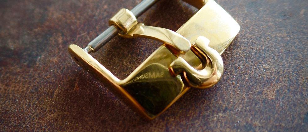 Ω OMEGA Gold Tone Steel Watch Strap Buckle