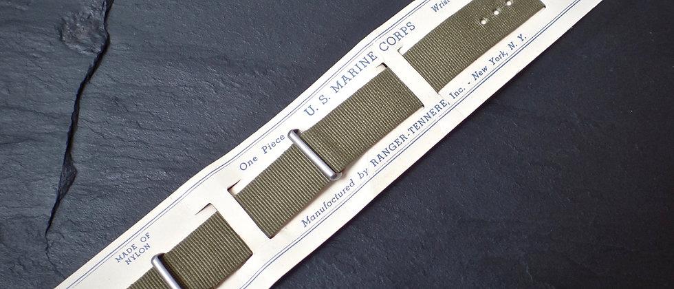 Original U.S. Marine Corps WW2 WWW Ranger Tennere 40's Nylon NATO Strap CORDOVAN