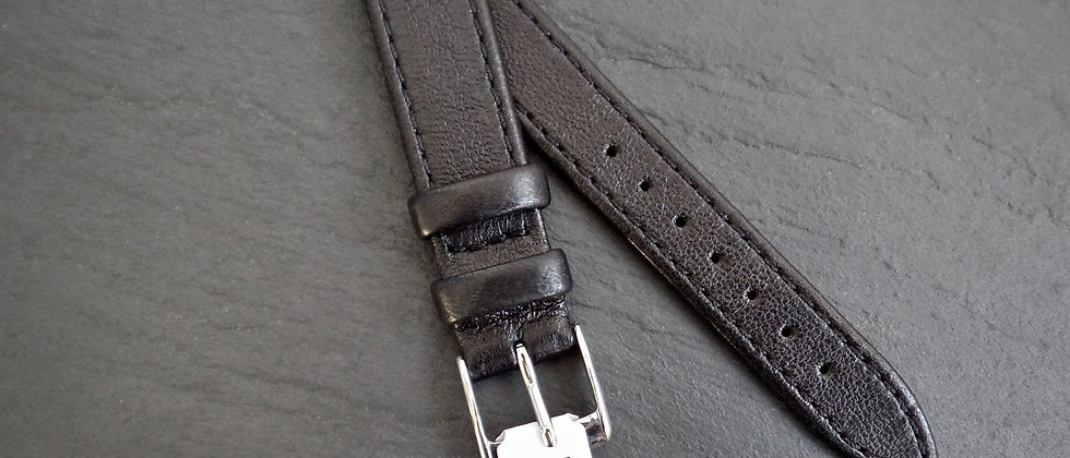 MORELLATO Italy 16mm RRP £19.95 Genuine Black Glove leather Watch Strap NOS NEW