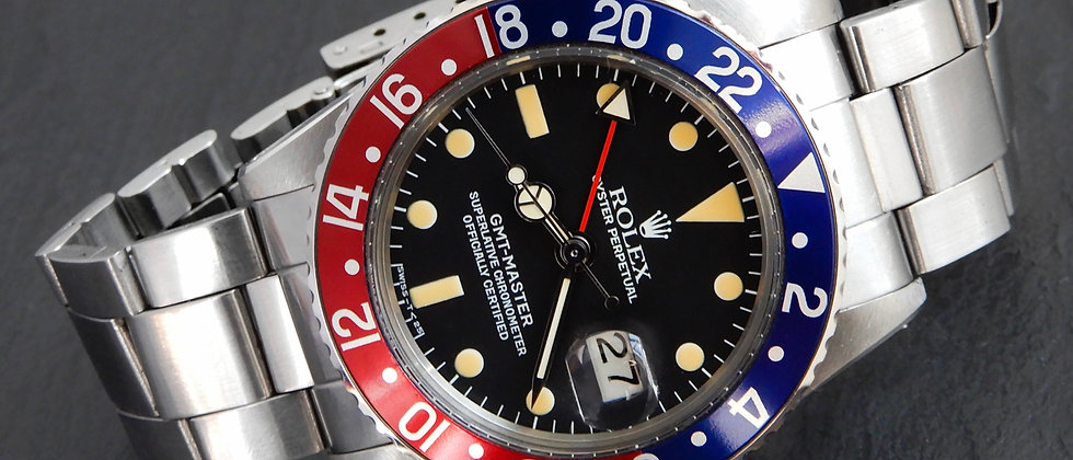 Rolex GMT Master II Pepsi Near MINT 1975 Vintage 1675 On 1970 9135 280 Cal 1565