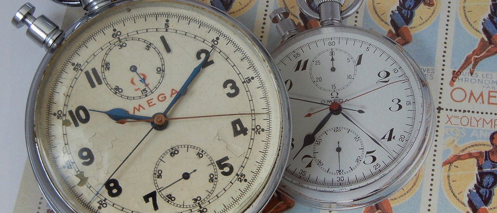 Rare 1950 OMEGA Olympic Timer Rattrapante Split Seconds Pocket Watch Chronograph