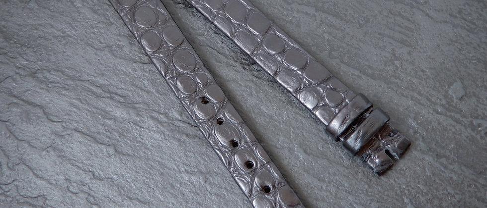 LONGINES 11mm taper 9mm 10mm Genuine Crocodile SWISS Black Watch Strap Leather