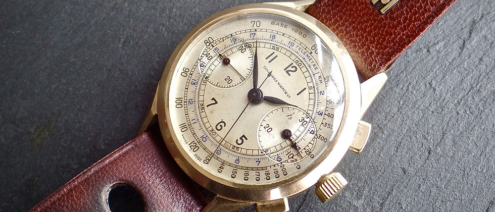 Tavannes Cyma 14k Solid Gold Watch Column Wheel Chronograph Valjoux 23 Ref 400L