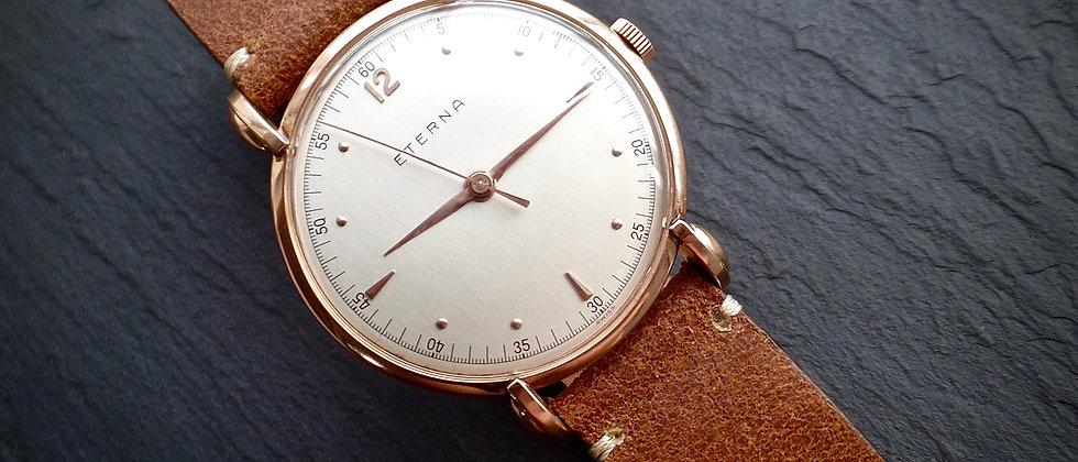ETERNA Jumbo 18ct Rose Gold Watch 1116H NOS Condition