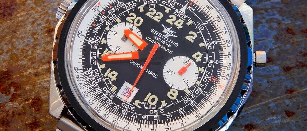 Breitling COSMONAUT Navitimer Chronomatic 1809 Vintage Pilots Chronograph Cal 11