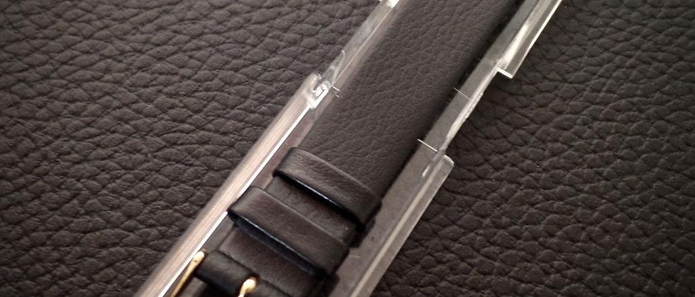 Hirsch Genuine NAPPA CALF LEATHER 16mm Black