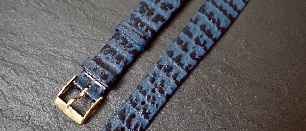 Hirsch Genuine SHARK SKIN 16mm DIVER watch strap BLUE
