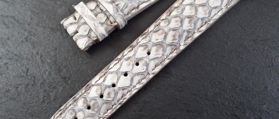 Blancpain White Python 18mm EXOTIC Watch Strap NOS Unused Handmade SWISS Rare