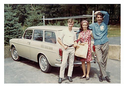 Classic 1970's kids and car