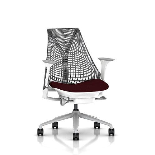 Sayl Çalışma Koltuğu Kırmızı Oturma / Slate Grey Sırt