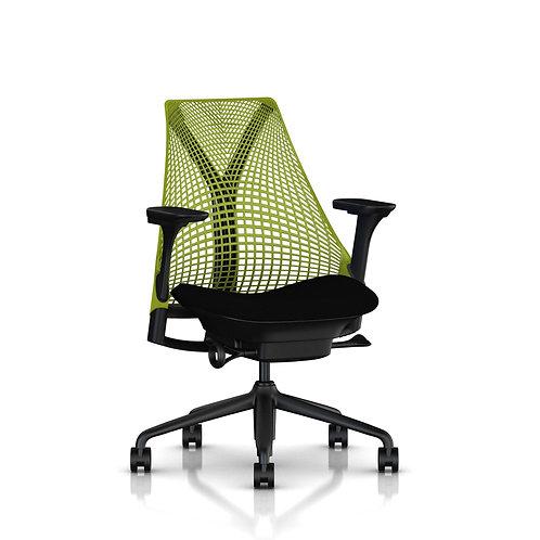 Herman Miller, Sayl Çalışma Koltuğu Siyah Oturma / Yeşil Sırt
