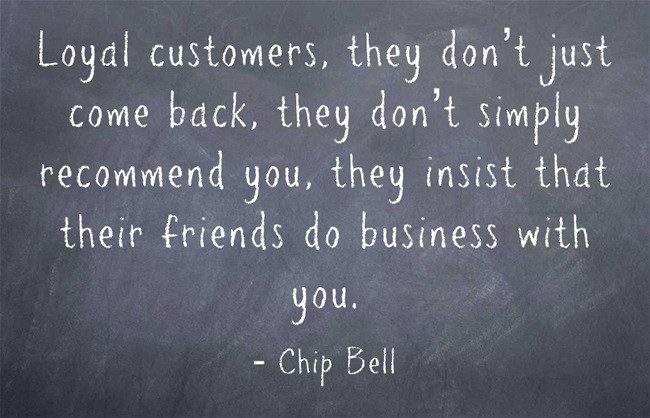 A good quote by speaker Chip Bell
