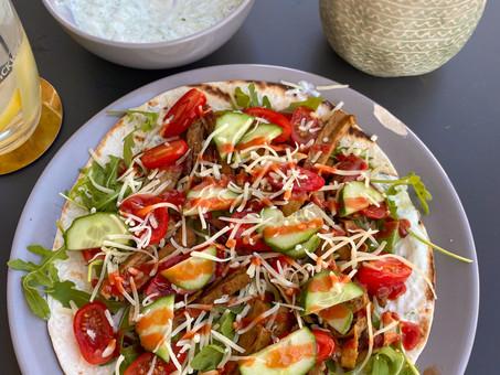 Recept: wrap met vega shoarma en zelfgemaakte gezonde tzatziki