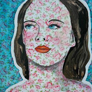 Portrait_#10_Acrylique-tissu-crayon_bois
