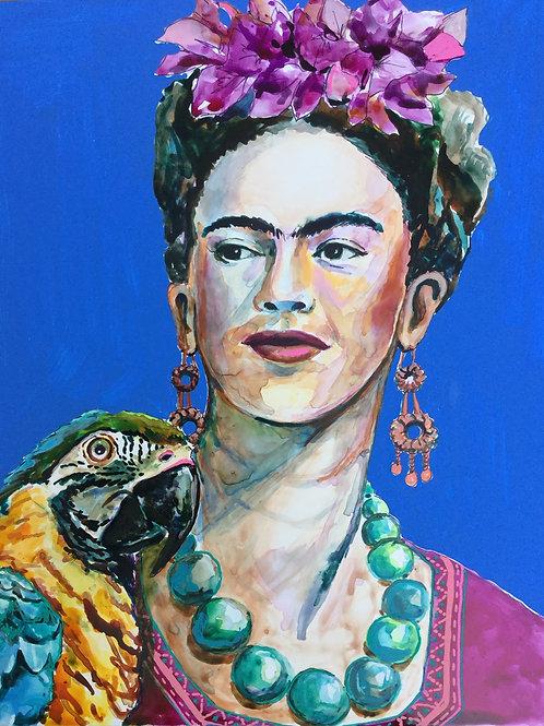 Frida et son perroquet