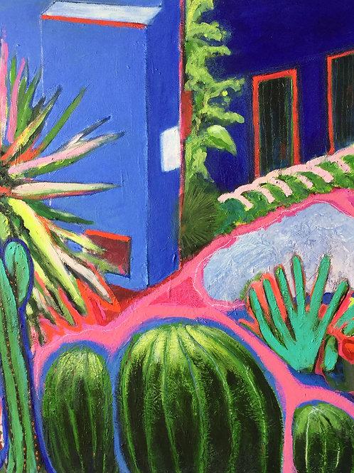 Casa azul, cour intérieure
