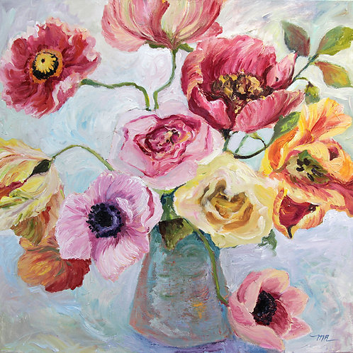 Anémones, pavots et tulipes