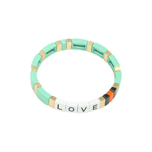 Armband Colourful Love Groen