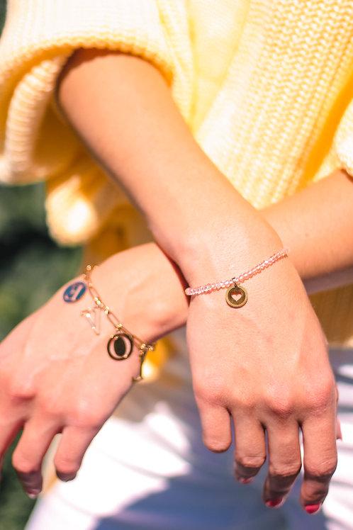 Armband Roze Hart Goud