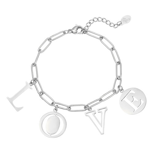 Armband Letters Love Goud & Zilver